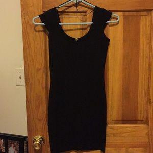 Black stretch mini dress